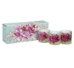 Designers Guild - Coffret de 3 bougies parfumées Peony