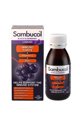 Sambucol - Immuno Forte aux Extraits de Sureau Noir , de zinc et Vit C -120 ml